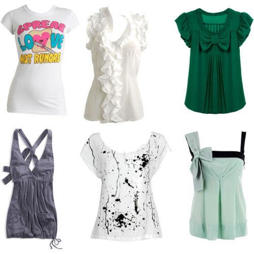 ... clasificar a las blusas de moda bajo las siguientes características