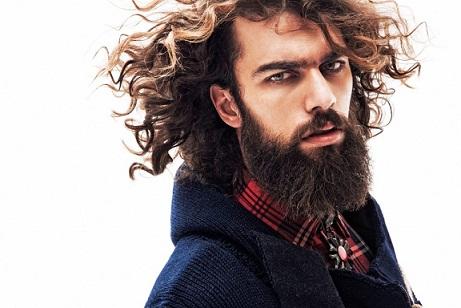 Hombres barbudos, moda hipters