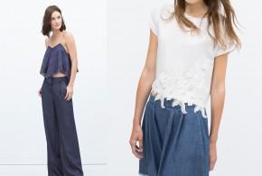 Camisetas de moda de la mano de Zara